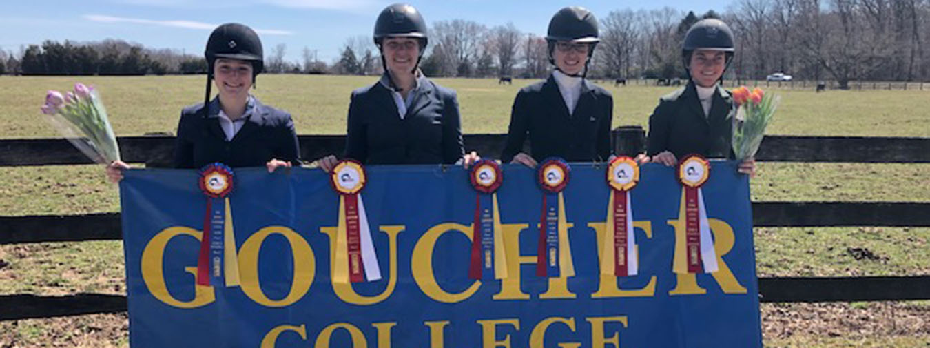 Goucher Equestrian Has Four Riders Finish In The Top-2 At IHSA Zone IV Region I Championships