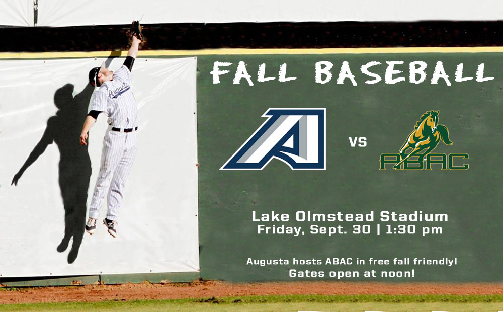 Augusta Baseball Hosts ABAC For Fall Friendly Friday Sept. 30