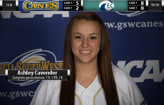 Cavender Delivers as Lady 'Canes Earn Split with Eckerd College