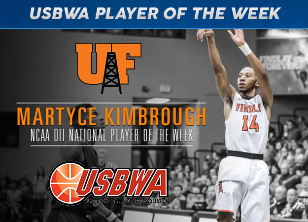 Findlay's Kimbrough Selected USBWA Division II National Player of the Week