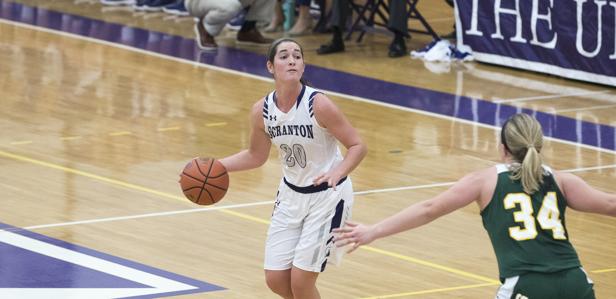 Senior guard Katie Broderick had 12 points, including a pair of 3-pointers, on Monday night.