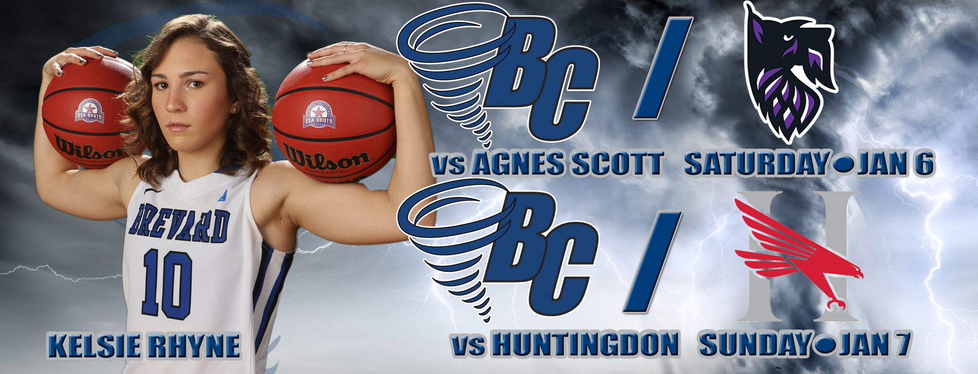 Brevard Hosts Agnes Scott, Huntingdon