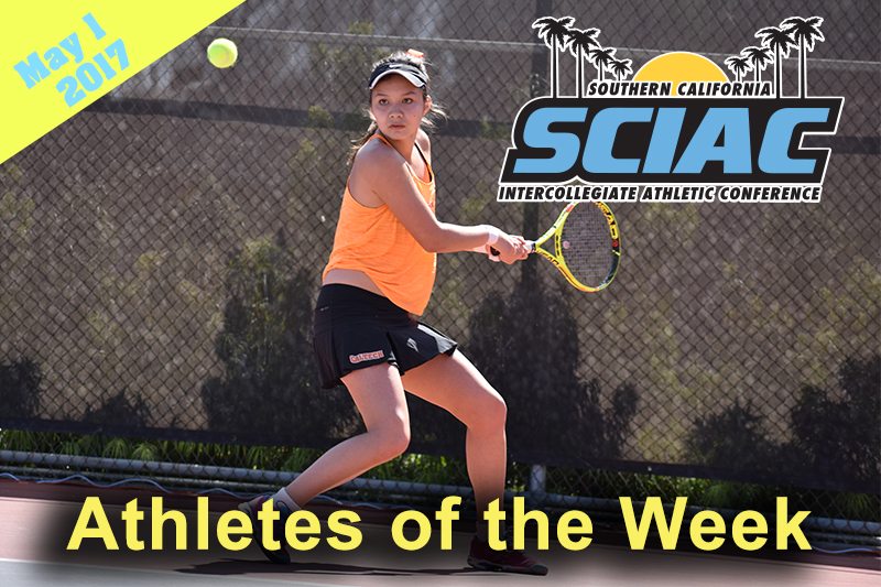 The SCIAC Announces Athletes of the Week