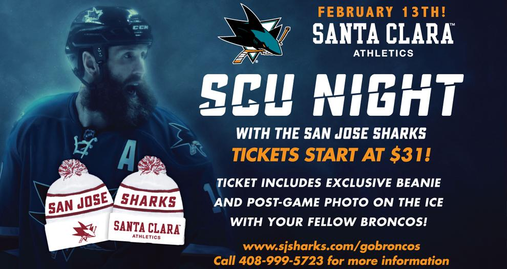 Get Your Tickets for SCU Night with the San Jose Sharks