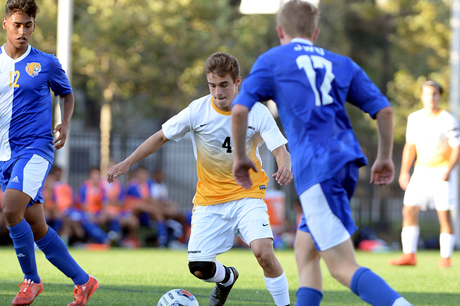 Men's Soccer Ties With Johnson & Wales