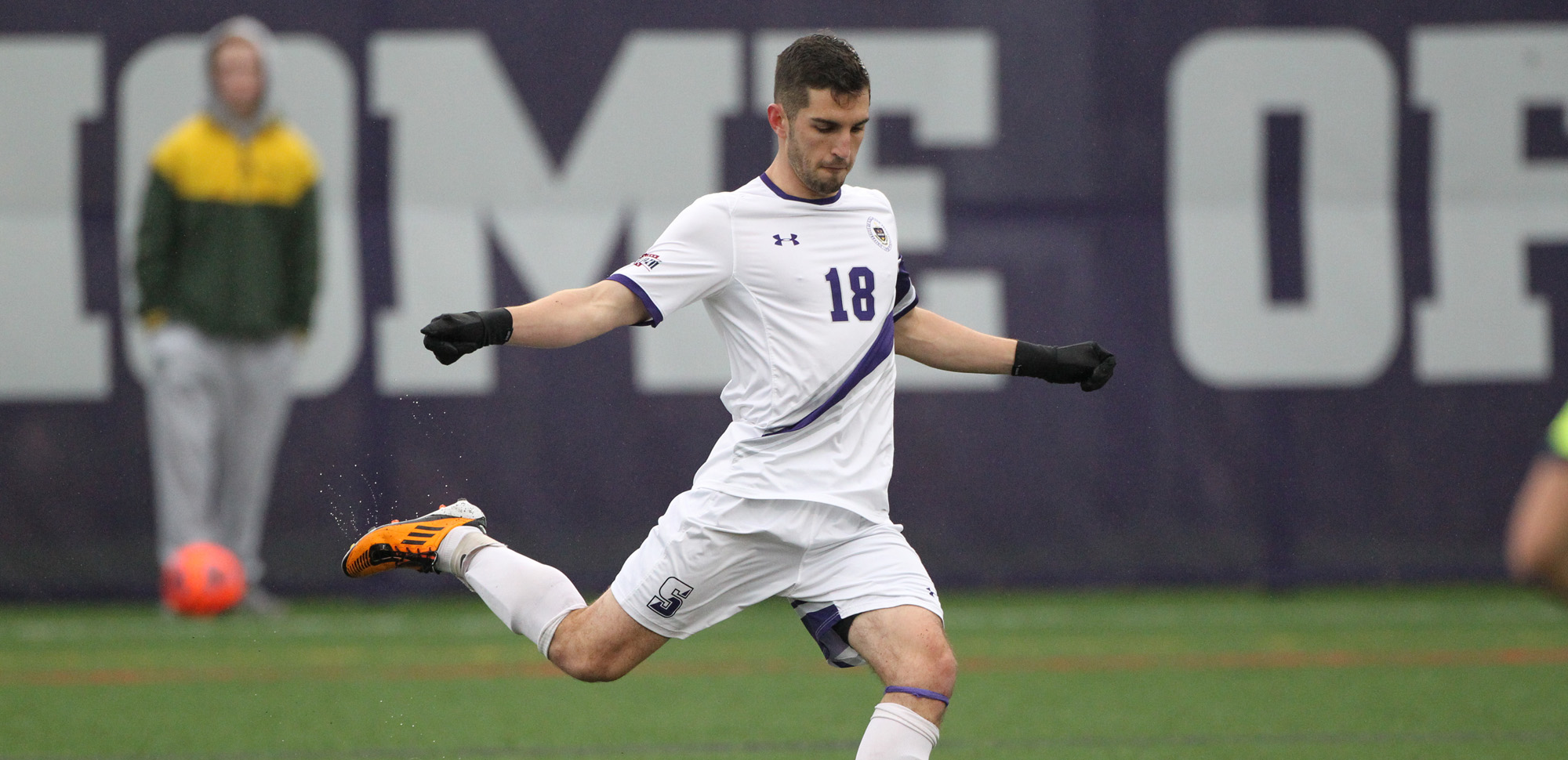 Senior Michael McKenna scored the first goal of his career in the Royals' win on Saturday.