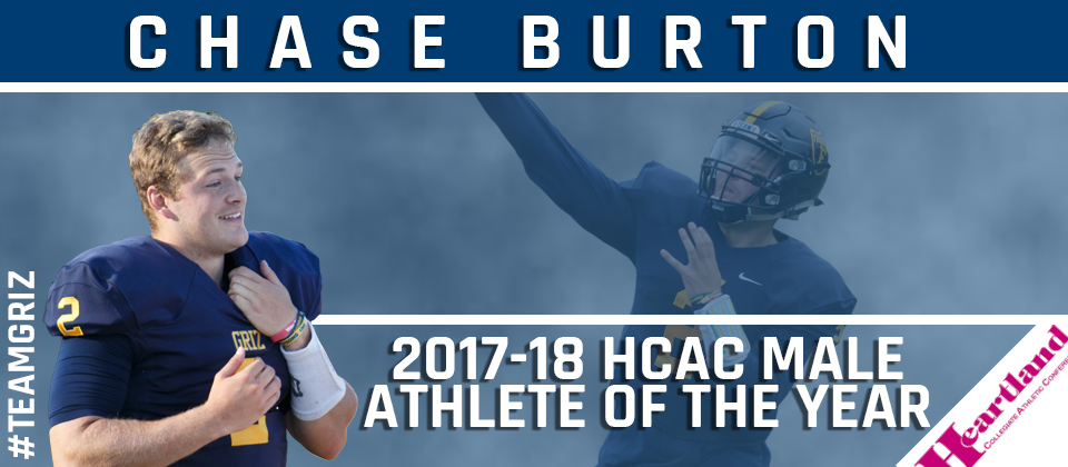 Chase Burton Named HCAC Male Athlete of the Year for 2017-18