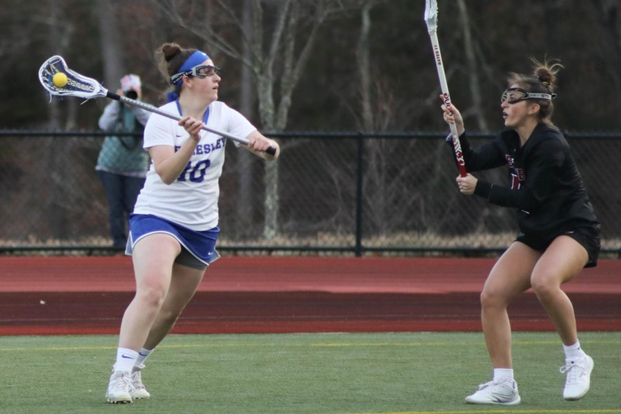 Dacia Persky led the Blue with five goals in their victory over Emerson (Miranda Yang)