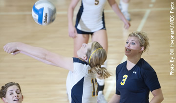 Volleyball Bounces Back with Win Over Stevens Point