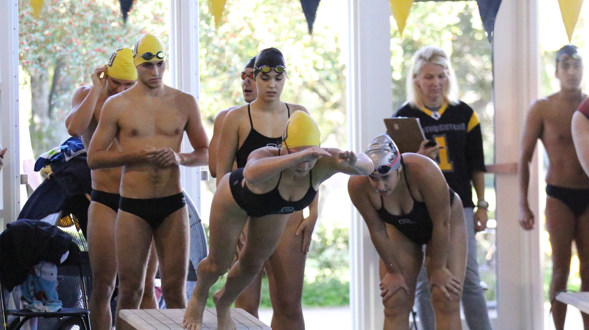 Women's Swimming And Diving Gets Record Performances At Trinity Invitational