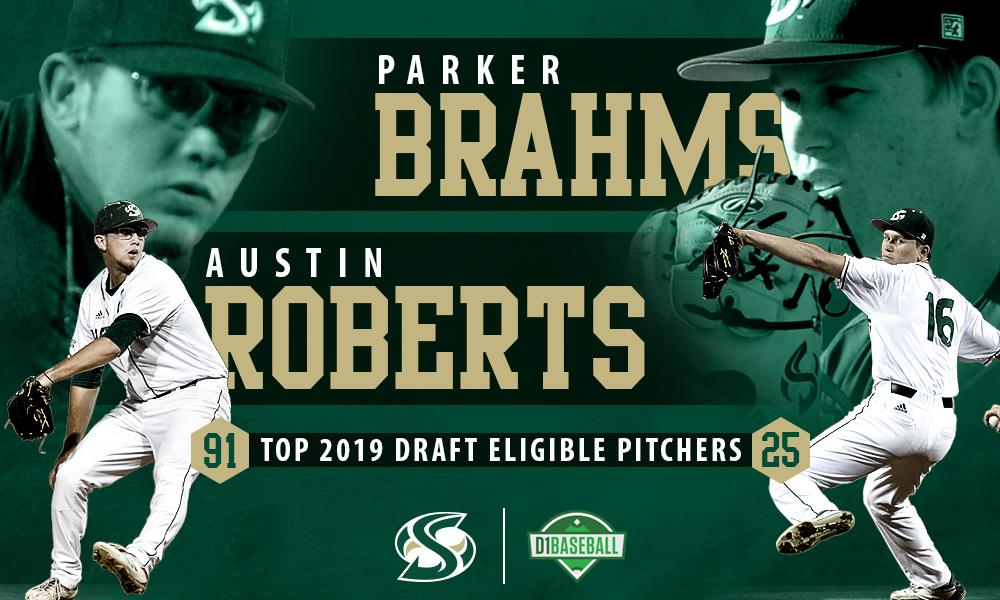 BASEBALL'S BRAHMS, ROBERTS RANKED AMONG NATION'S TOP 2019 DRAFT ELIGBLE PITCHERS