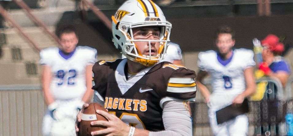 Jake Hudson accounted for four of the Yellow Jackets five touchdowns (Photo courtesy of Erik Drost)