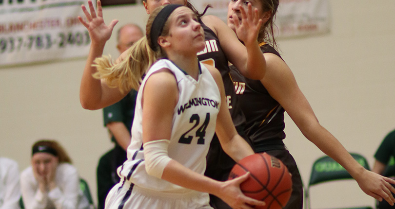 Mackenzie Campbell finished with a team-high 17 points as WC posted the 56-35 win over Mount Union. (Wilmington file)