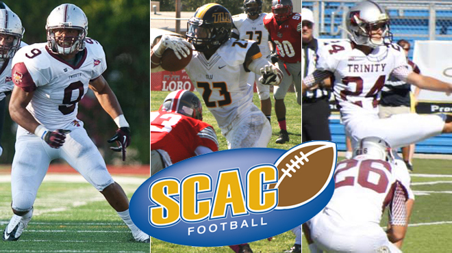 TLU's Williams; Trinity's Boboy, Wise Named SCAC Football Players of the Week