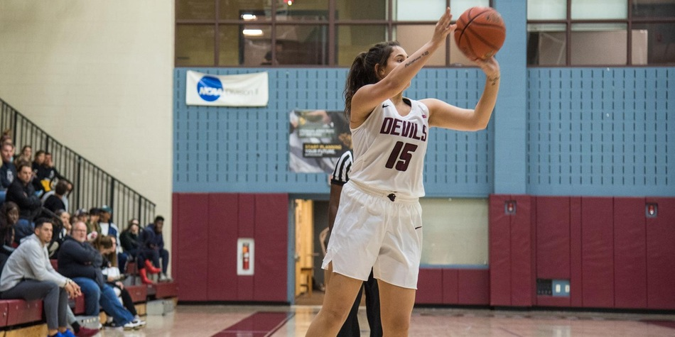 No. 14 Women's Basketball Thwarts Franklin Pierce Comeback with Late Run