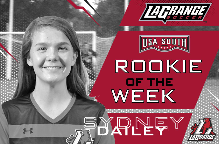 Women's Soccer: Sydney Dailey selected as USA South Rookie of the Week