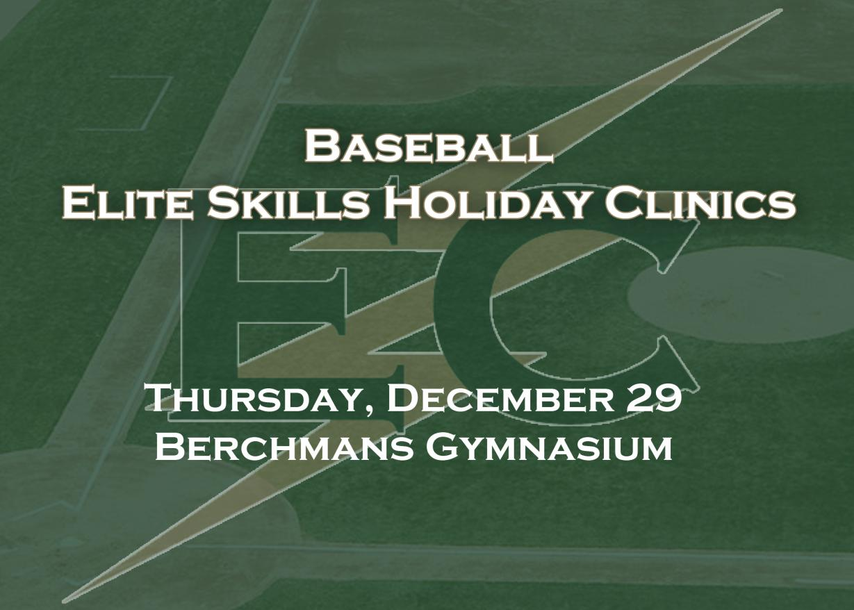 Baseball to Conduct Elite Skills Holiday Clinic