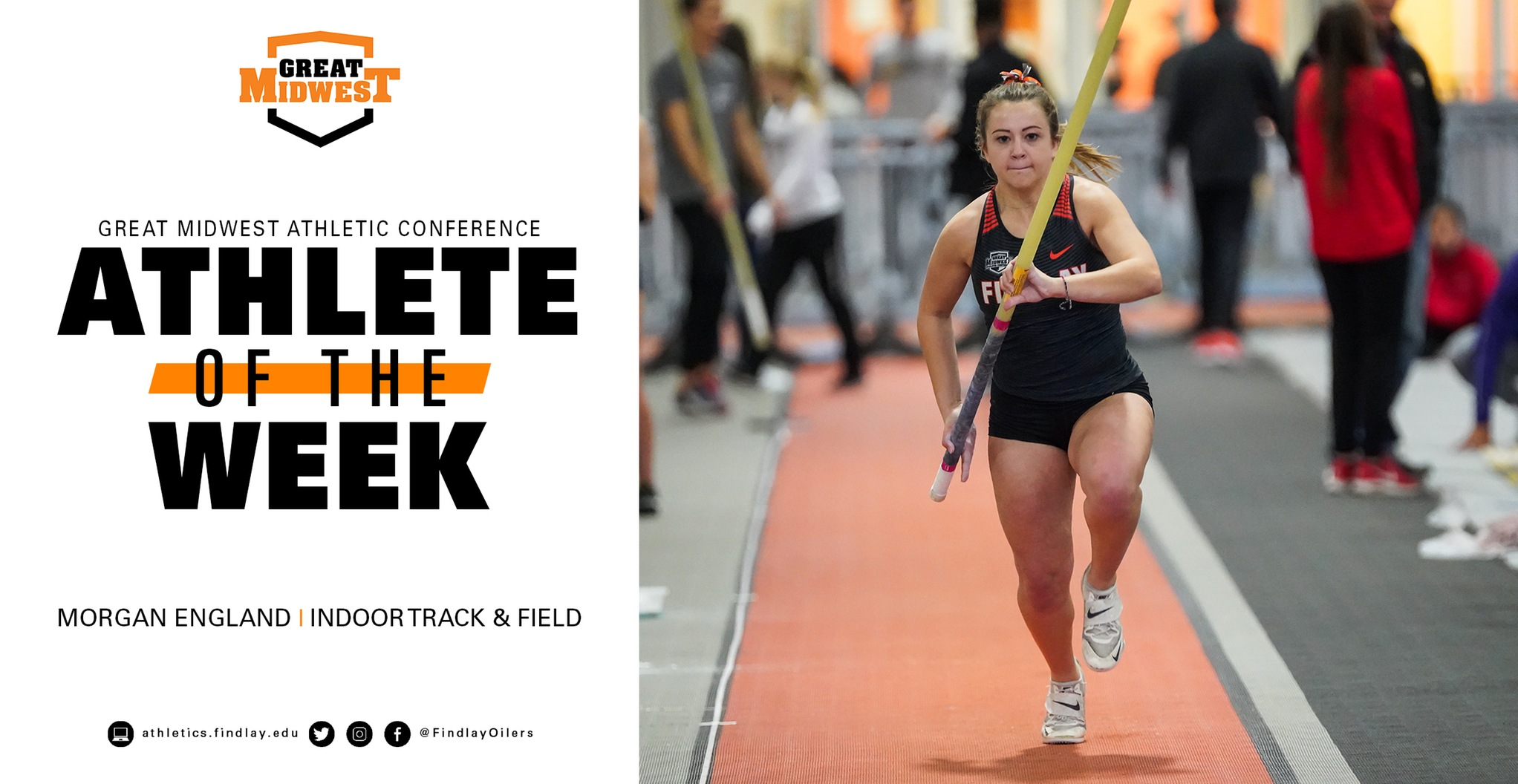 England Earns G-MAC Field Athlete of the Week