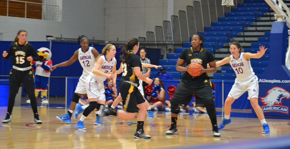 Hot Second Half Shooting Downs UMBC Women's Basketball at American, 77-51