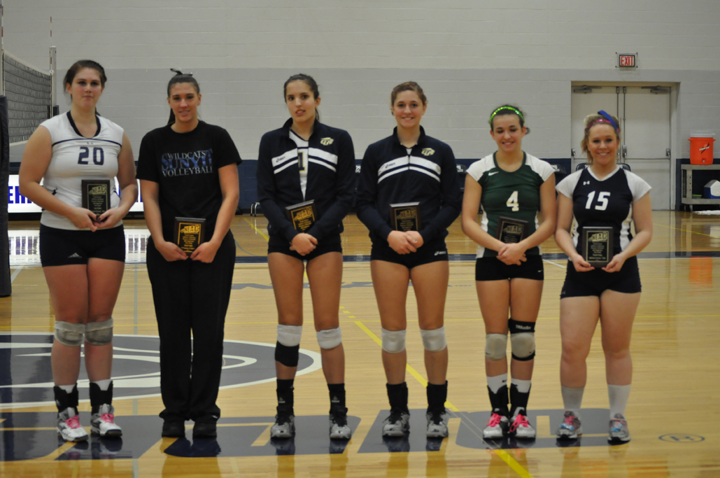 1st Team All-Conference Selection Juleah Vedder (second from left)