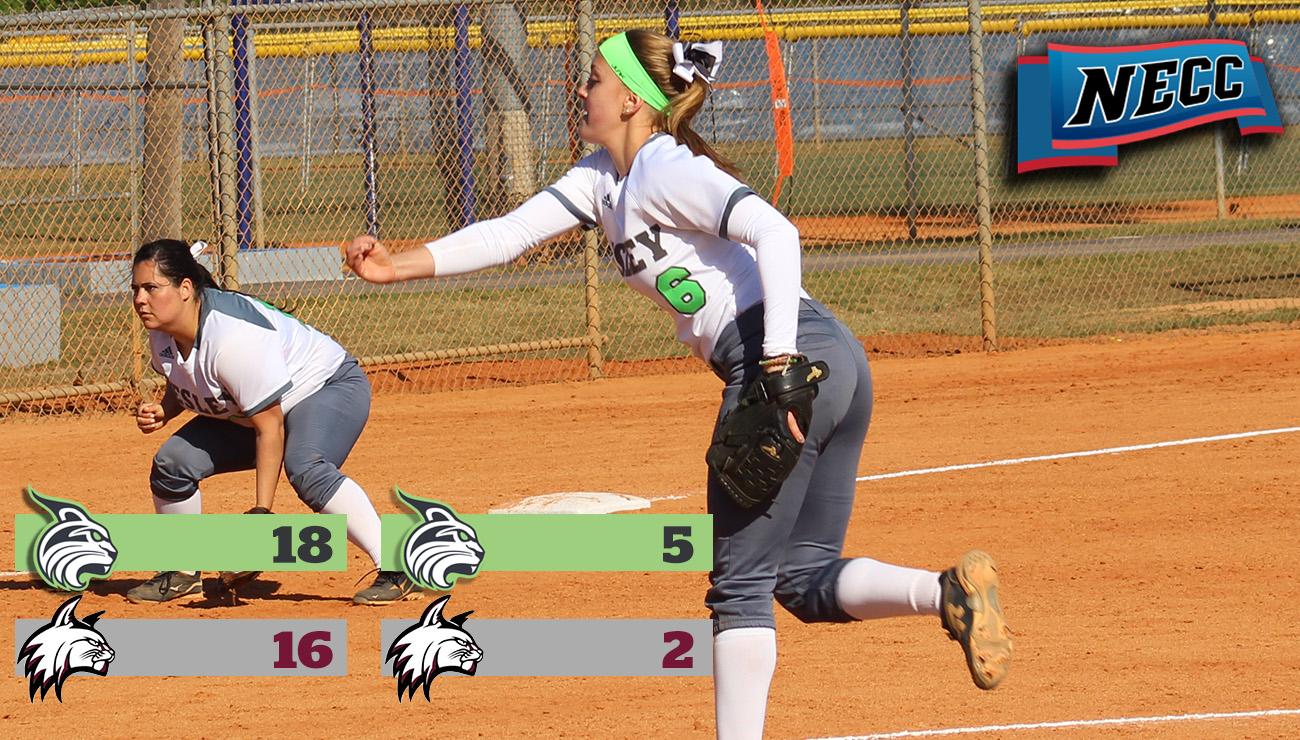 Bushman Strikes Out 15 in Doubleheader as Lynx Sweep Wildcats to Improve to 4-0 in Conference