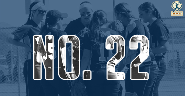 The Moravian College softball team is ranked No. 22 in this week's NFCA Division III Top 25 Poll.