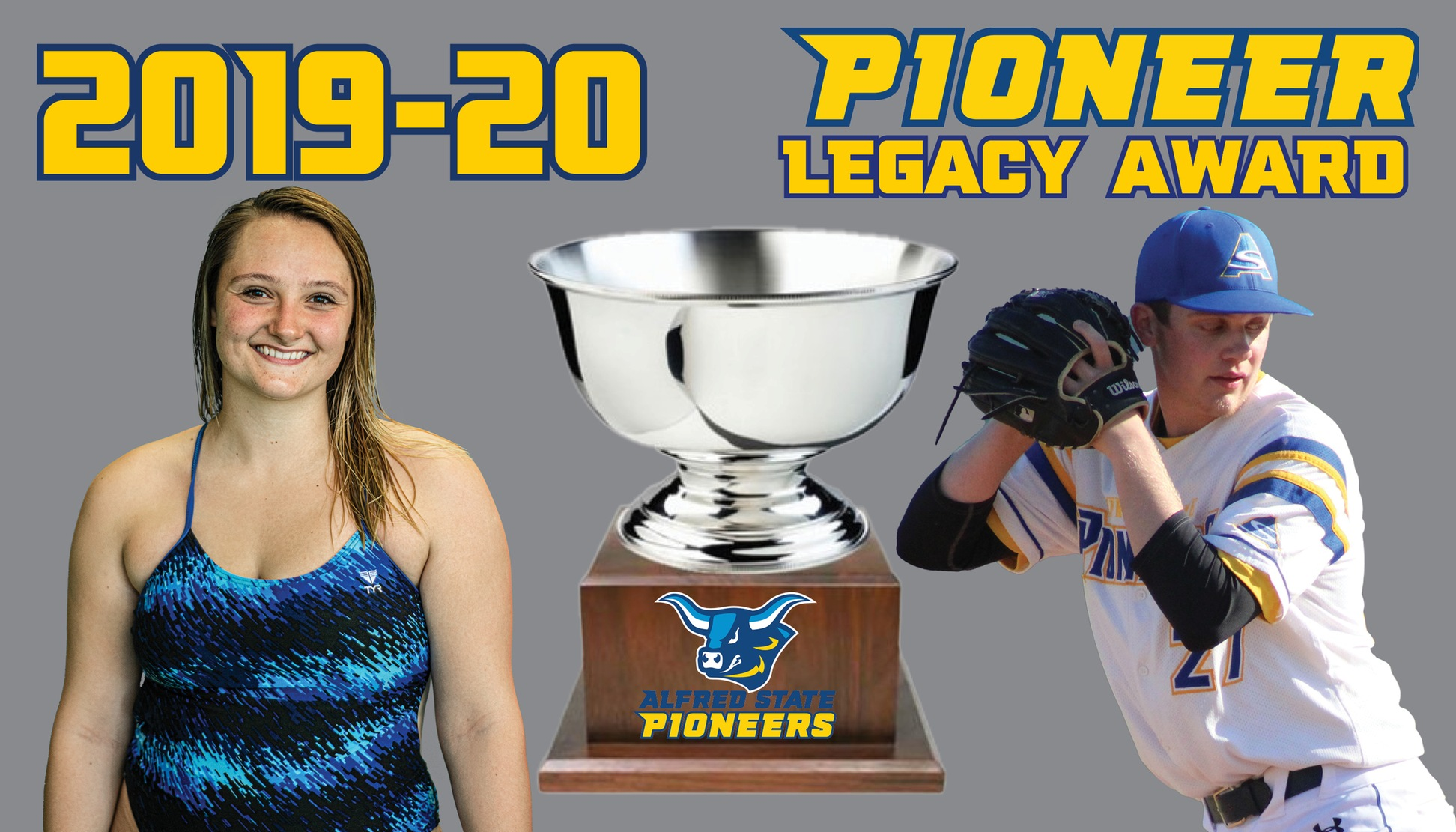 Sarah Stevens and Jarrod Deaton named the recipients of the 2019-20 Pioneer Legacy Award