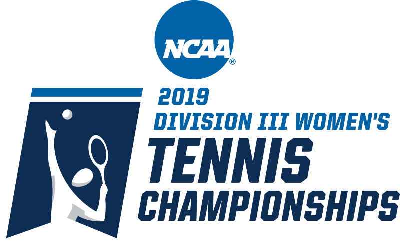 Blue and white NCAA Division III Women's Tennis Championships logo