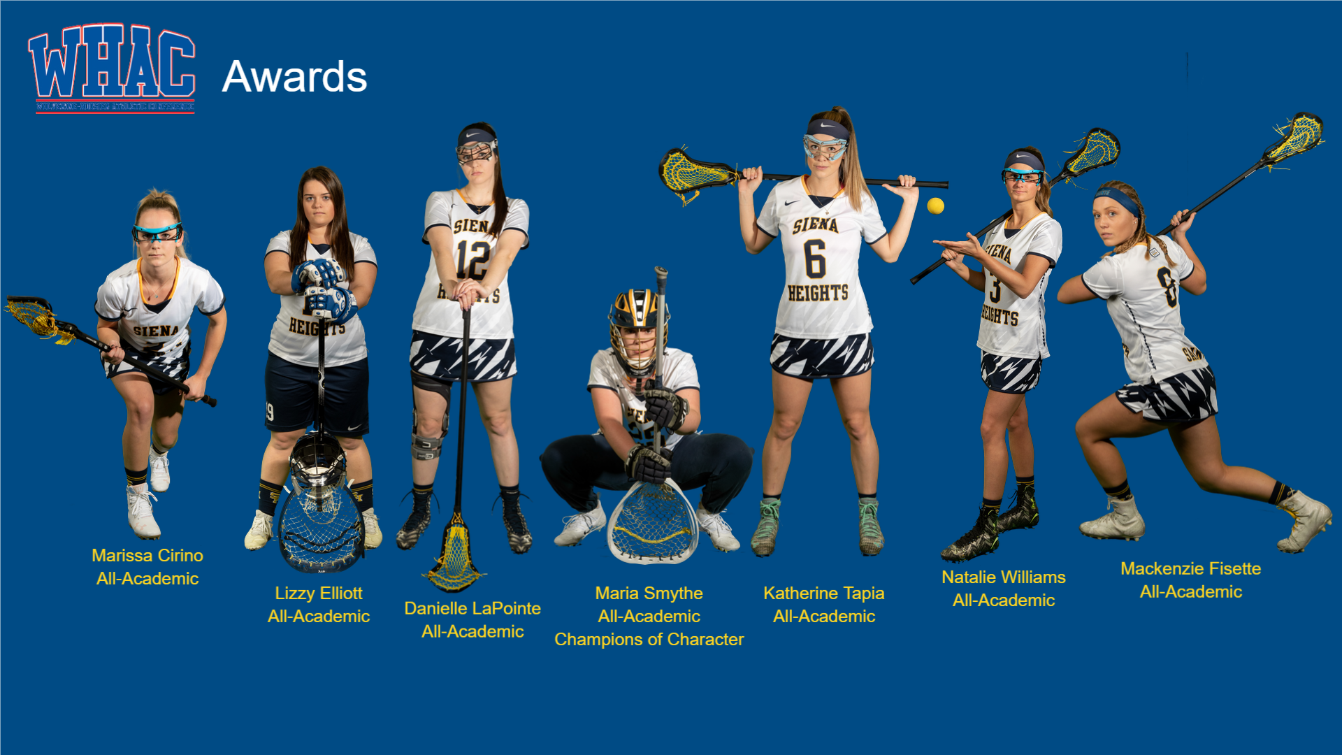 Seven SHU Women's Lacrosse Players Receive WHAC Honors