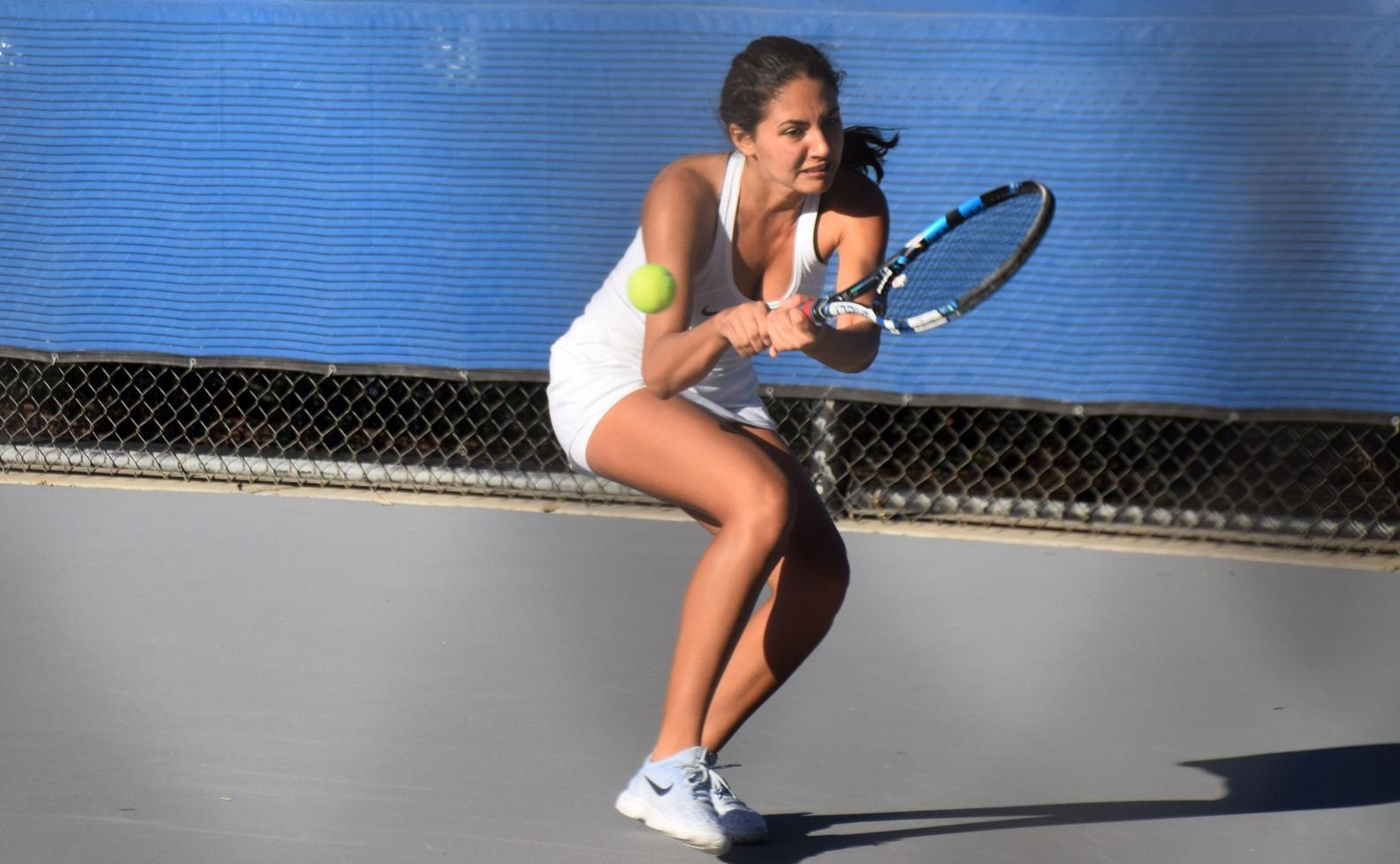 Women's tennis team gets its third win of the season