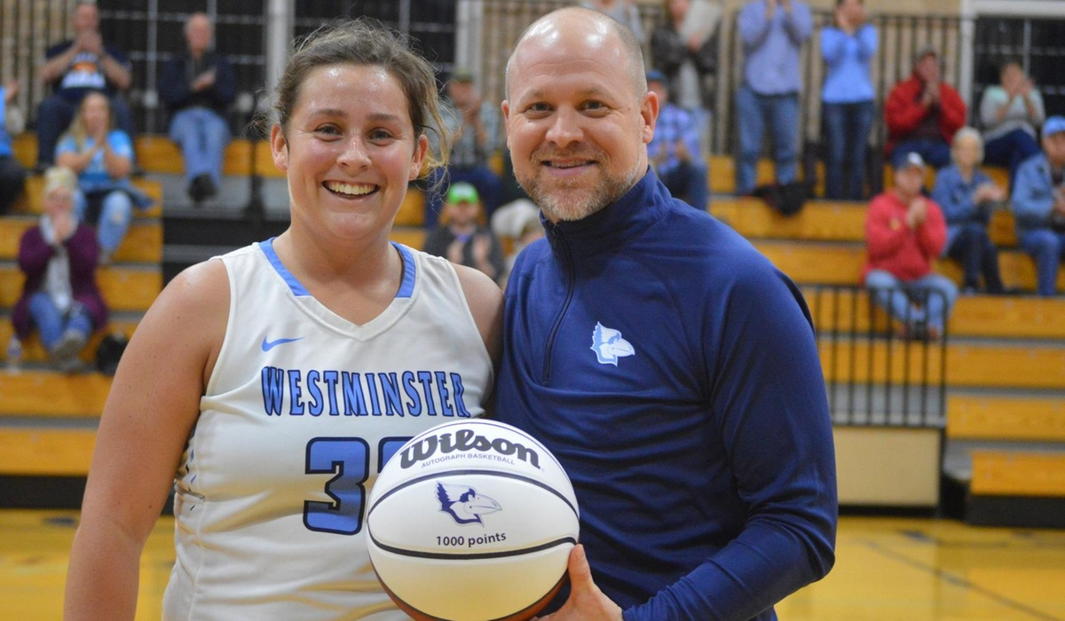 Adams Scores 1000th Career Point in Westminster Women's Basketball Rout