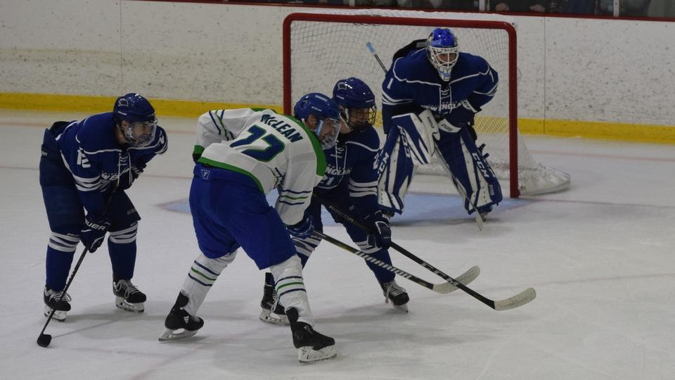 Ben Churchfield made 20 saves for visiting UNE to blank the Seahawks 3-0 in the season opener for both squads.