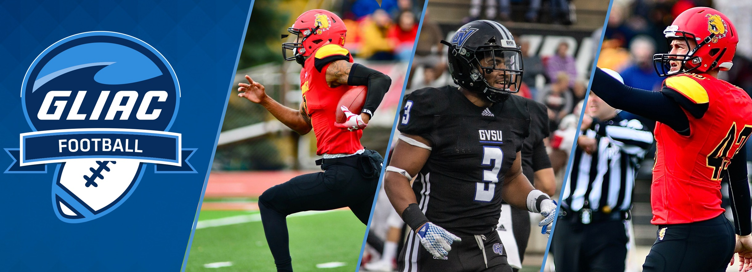 FSU's Campbell & Dieterle, GVSU's Nkansah Earn GLIAC Football Players of the Week
