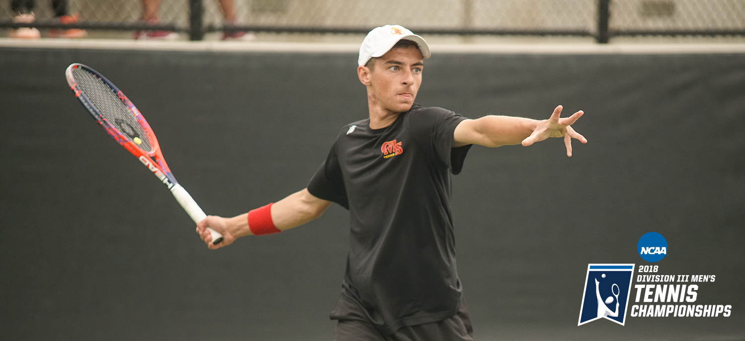 Jack Katzman earned a 6-2, 6-2 victory at No. 2 singles on Monday against Chicago. (photo credit: Alicia Tsai)