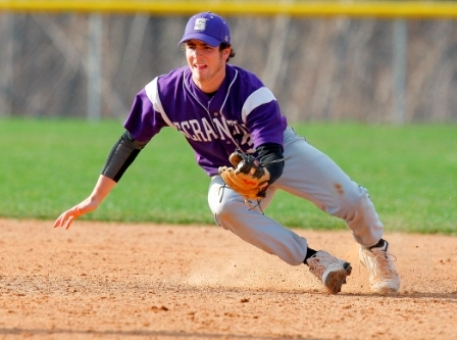 Junior shortstop Tim LeCompte had five hits and four RBIs on Saturday, but Scranton dropped a doubleheader to Merchant Marine Academy.