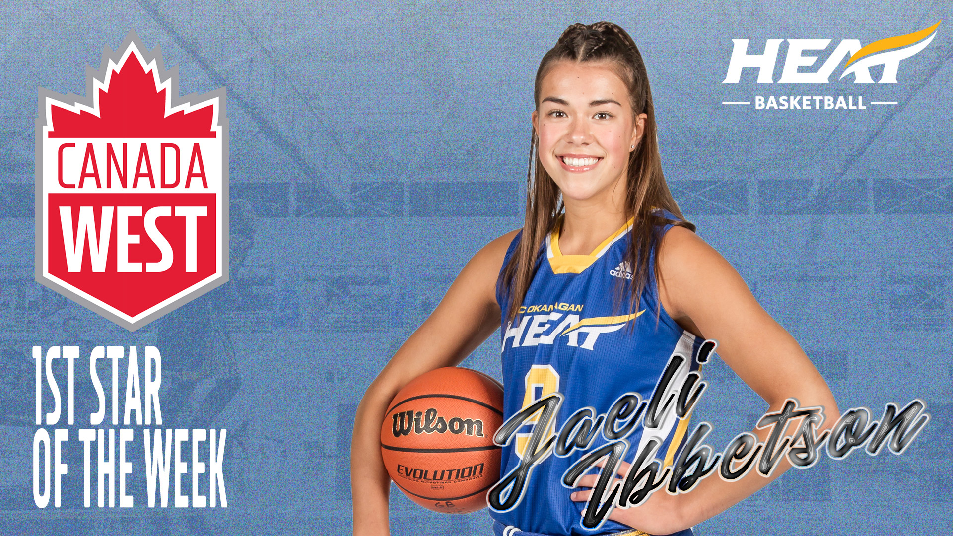 AWARDS: Jaeli Ibbetson selected top star of the week in Canada West