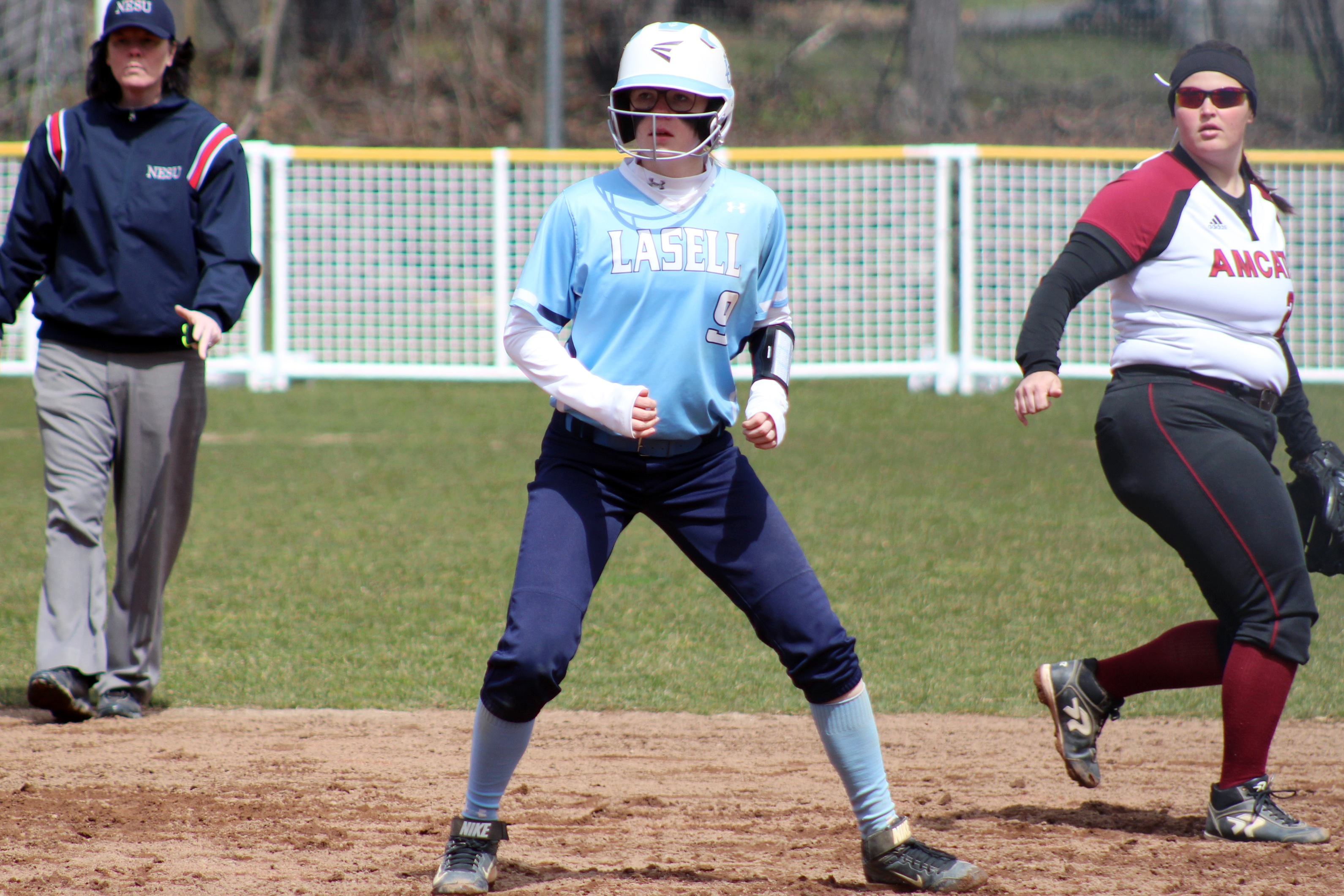 Lasell Softball blanked twice by Saint Joseph's (Maine)