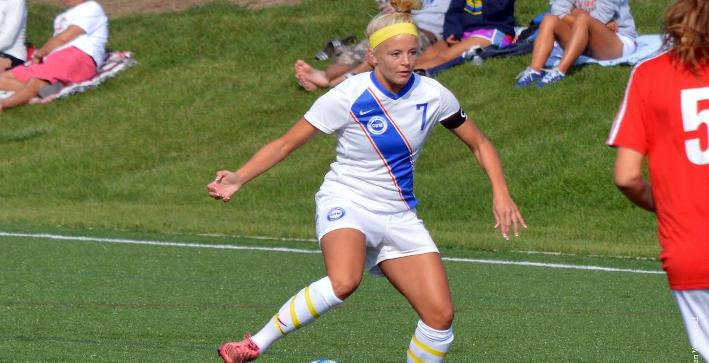 Pfannerstill scores twice, guides Women's Soccer to NACC victory over MSOE