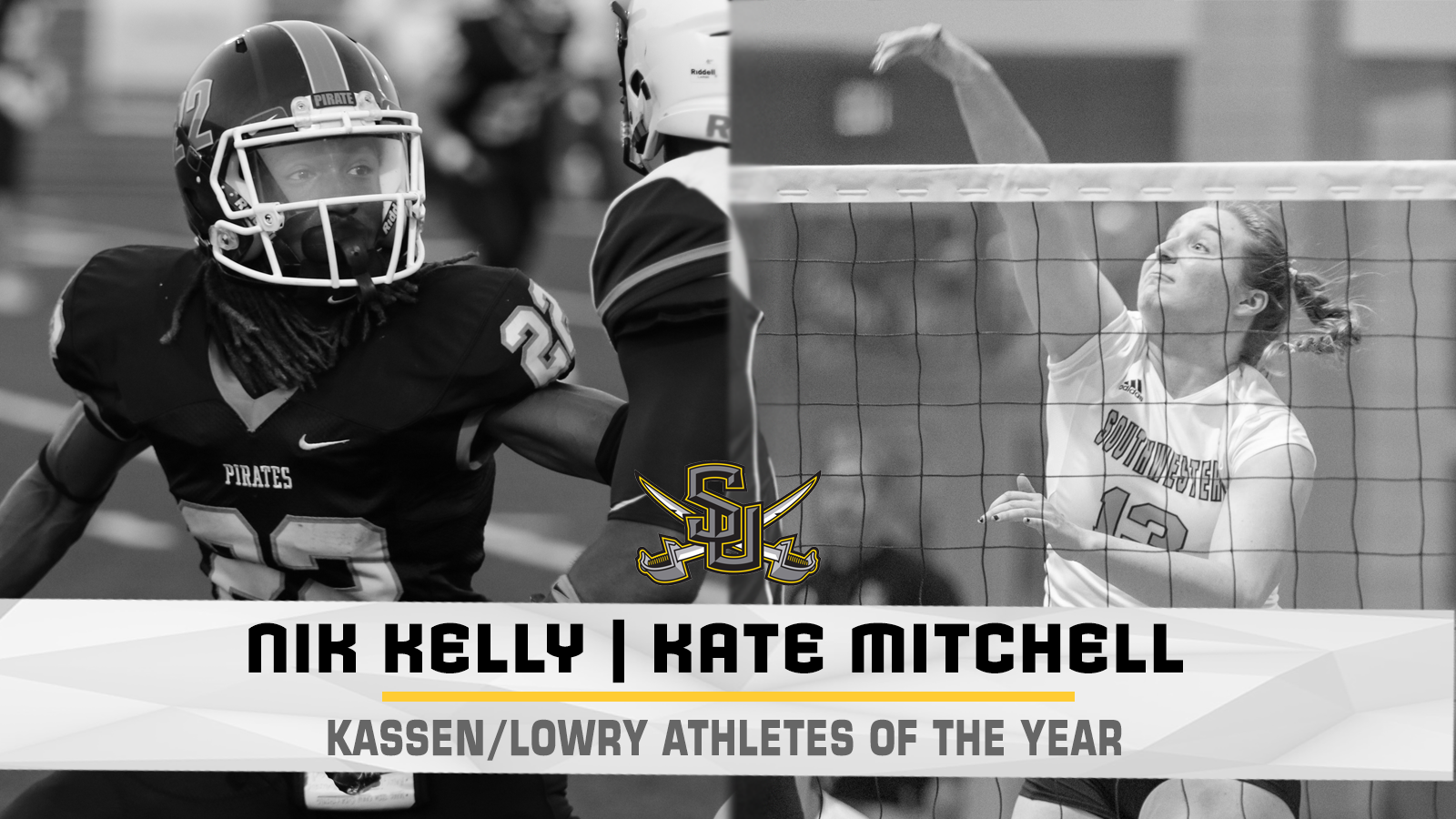 Kelly, Mitchell Named Kassen/Lowry Athletes of the Year