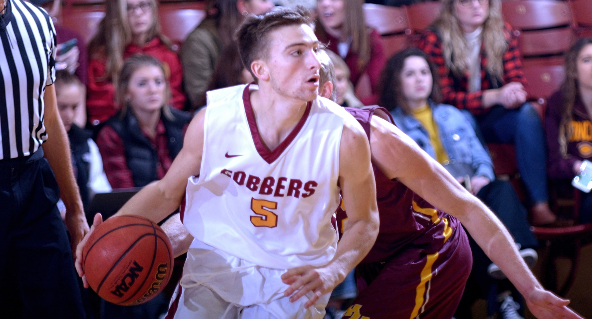 Freshman Bryden Urie scored a career-high 16 points to help Concordia earn its first conference win of the season.