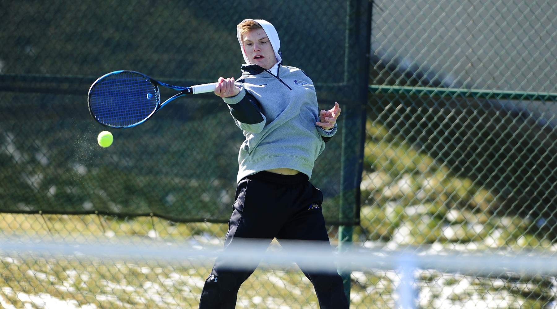 Men's Tennis Storms Past Juniata, 9-0, to Remain Unbeaten in Landmark