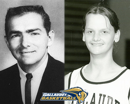 Gallaudet athletics to retire Ronda Jo Miller '01, Kevin Milligan '67 basketball jerseys on Feb. 8, 2014