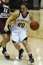 With 26 points against Stony Brook, Michelle Kurowski moved into seventh place on UMBC's career scoring list.