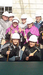 Women's Soccer Helps Needy With Habitat For Humanity