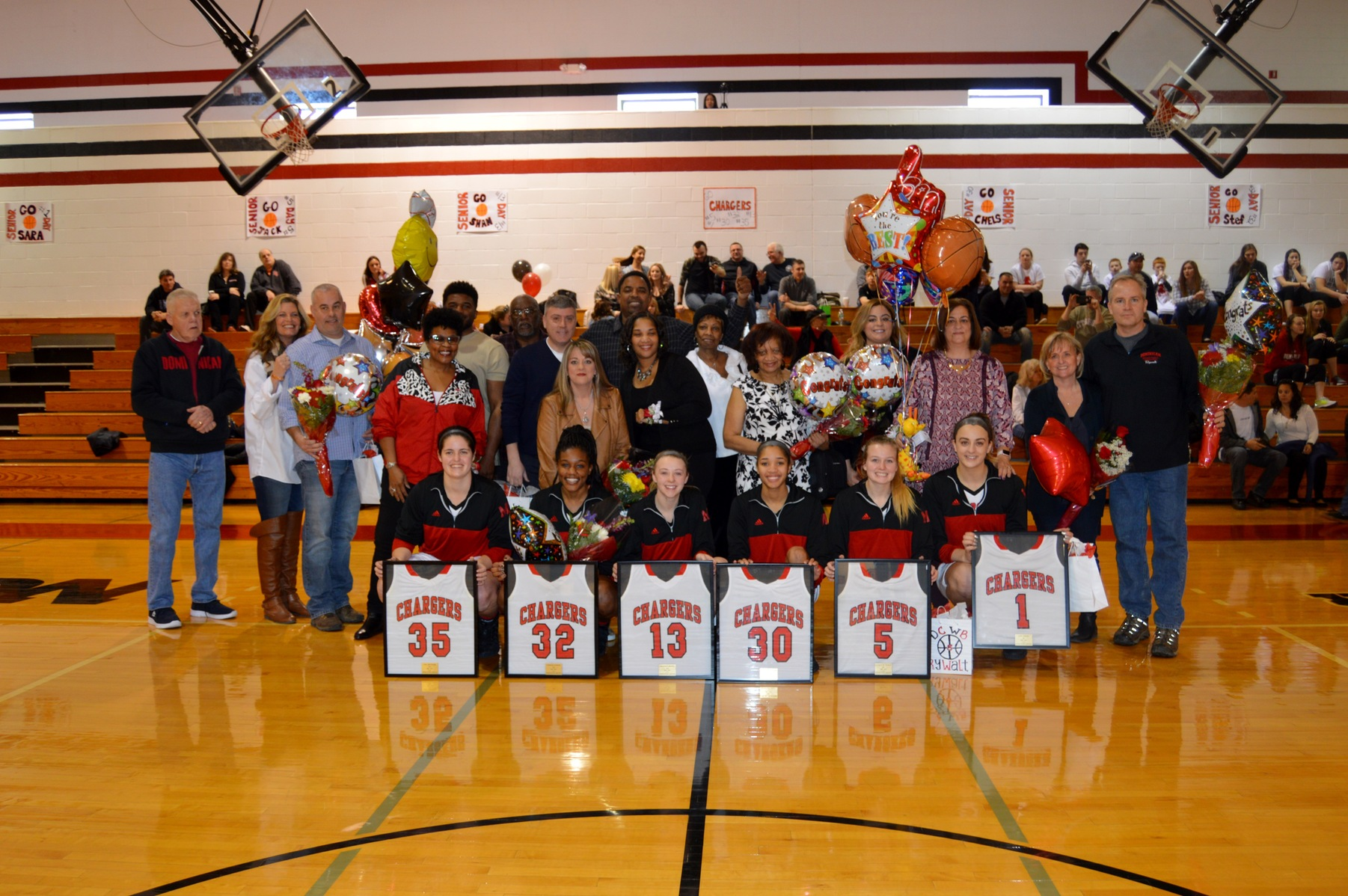 LADY CHARGERS WIN ON SENIOR DAY