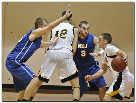 Lions' men's basketball team claims HCAC Tourney spot with a 58-45 win at Anderson University