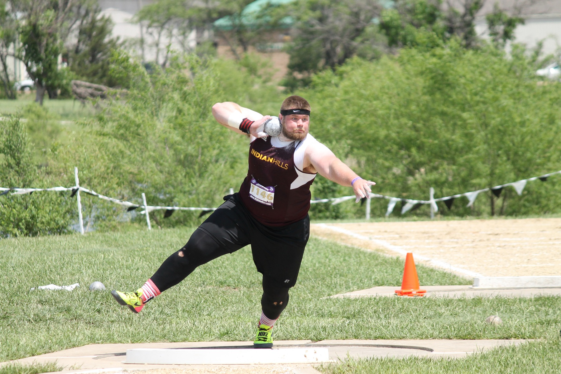 Nathan Winters finished 4th in the shot put at the 2018 NJCAA Outdoor Track & Field National meet.