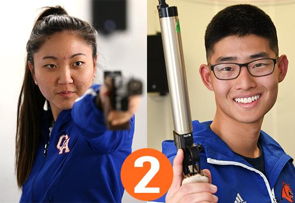 TOP MOMENT #2 – Kim and Oh and Women's Air Pistol Win National Championships in Pistol
