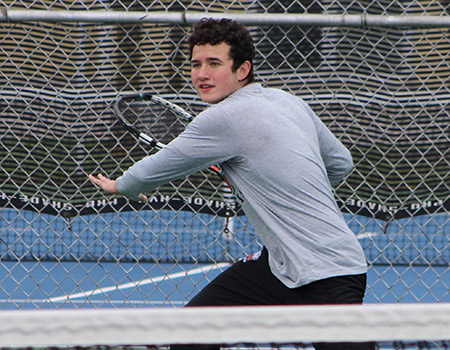 Kargl wins twice, but Men's tennis edged by Otterbein 5-4