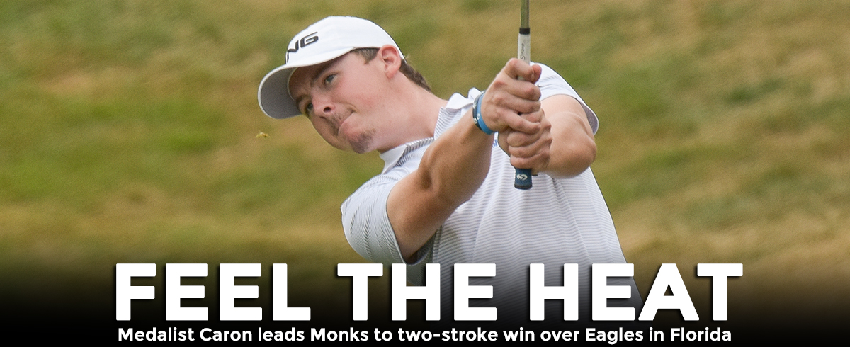Monks Top Eagles, Caron Earns 11th Career Medalist Honor